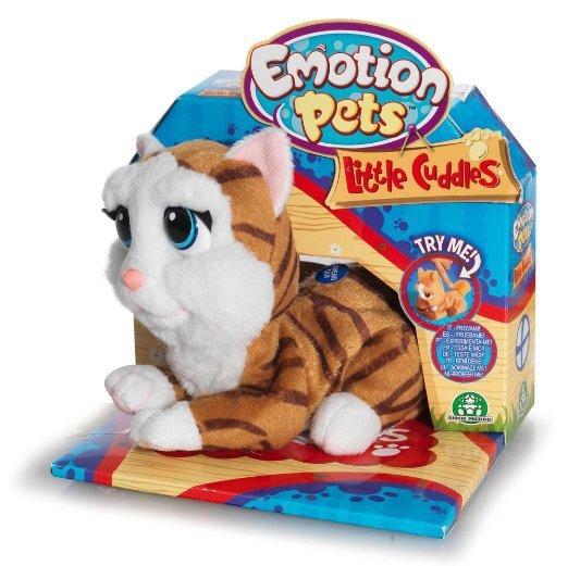 Giochi Preziosi 70302811 - Emotion Pets Little Cuddles Funktionsplüsch-Katze, cherry. @Amazon-prime