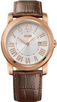Hugo Boss Herren-Armbanduhr Analog Quarz Leder 1512716