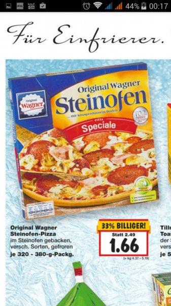 [Kaufland] Wagner Steinofen-Pizza versch. Sorten für 1,66 €