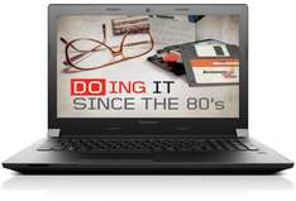 Billig Notebook: Lenovo B50-30 MCA2VGE - 15,6'' / Intel Celeron N2840 / 4 GB RAM / 320 GB HDD / DVD-Laufwerk / 1366 × 768 px matt / Win 8.1 Bing 64bit für 199,90 € [Cyberport @ eBay]