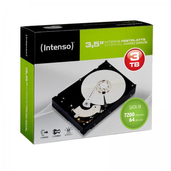 Intenso 3TB -Retail-Kit (interne 3,5 Zoll Festplatte mit 3TB Speicher & 7.200 U/min) - 84,85€ @ ZackZack