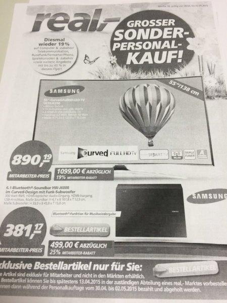 Real *Mitarbeiter* Samsung UE55J6350 curved TV
