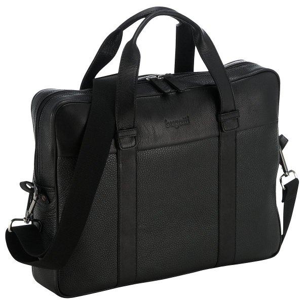 [3% Qipu] Bugatti Metro 15 Zoll Reißverschluss-Businesstasche (40 cm) aus Leder in schwarz für 74,95€ frei Haus @DC