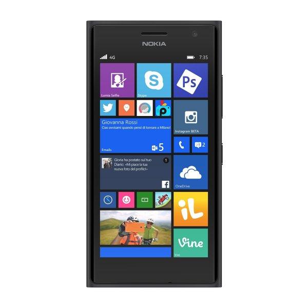 """Nokia Lumia 735 Schwarz, 4,7"""", Snapdragon 400, Windows 8.1, 1 GB Ram, LTE für 179€ @cyberport.de"""
