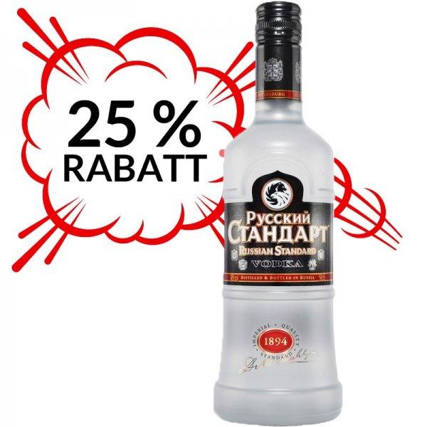 7x Russian Standard Vodka für 57,30 Euro - somit pro Flasche 8,19 Euro