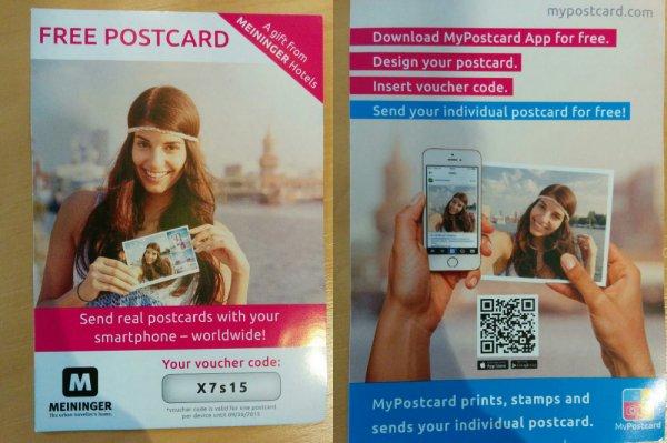 Kostenlose Postkarte versenden (Reallife-Papier-Karte via App)