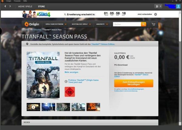 Titanfall Seasonpass Kostenlos über Origin