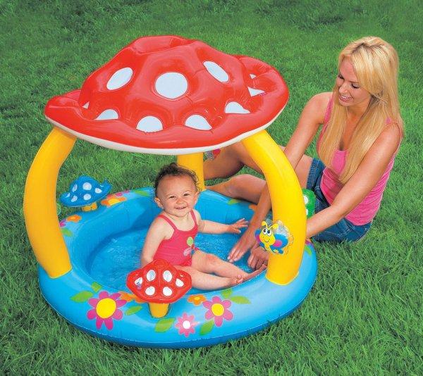 Amazon (Prime) Baby-Schwimmbad mit integriertem Sonnenschutz für nur 7,99 Euro