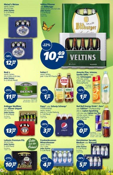 real: Kasten Veltins 20 x 0,5 für 10,49 € + Gewinnmöglichkeit Brausparen