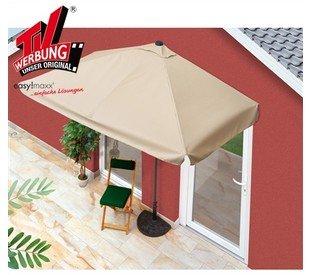 ROSSMANN (online) - Halbeckiger Sonnenschirm 282x137cm für Balkon, beige, ca. 45% günstiger