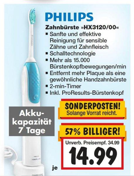 [KAUFLAND] Super Weekend:  PHILIPS Zahnbürste HX3120/00 für 14,99 € (9.-11.04.)