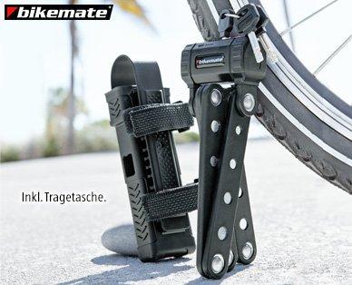 BIKEMATE® Fahrrad-Faltschloss für 14,99 anstelle von 26,49 UVP ALDI SUED