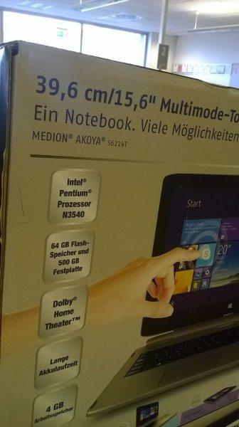 Medion Akoya S6214T (MD99440) @ ALDI Köln Sülz ? 349 €