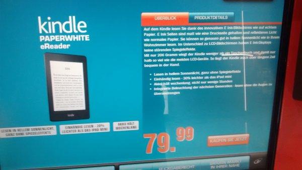 Lokal Flughafen Düsseldorf - Kindle Paperwhite für 79,99 €