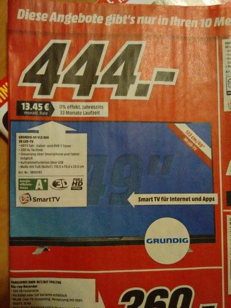 [lokal Hamburg?] Grundig 49 vle 866 3D led tv