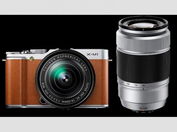 [Saturn online] FUJI X-M 1+XC 16-50mm+XC 50-230mm braun, Systemkamera, 16,5 Megapixel