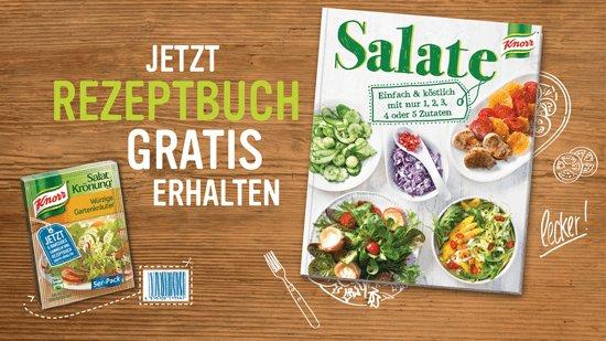 6 × KNORR Salatkrönungs-Produkte kaufen und gratis Salat-Rezeptbuch erhalten (diese Woche bei REWE im Angebot für 0,79€ je Packung)