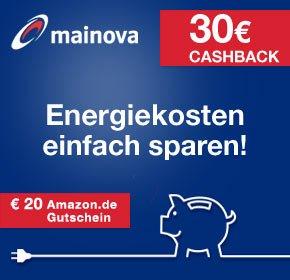 [Qipu] Mainova: 30€ Cashback + 20€ Amazon Gutschein für Strom oder Erdgas Direkt Vertrag + Extra Bonus!