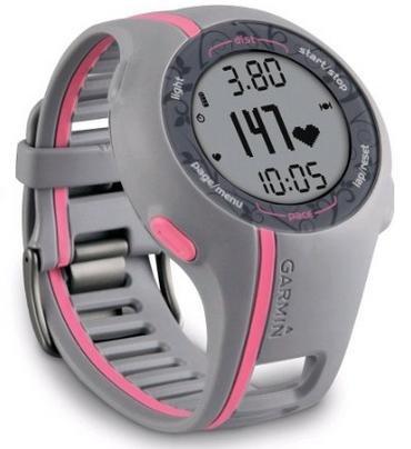 nur 99 Euro Garmin GPS Laufuhr Forerunner 110 W - GPS Trainingscomputer inkl. Brustgurt