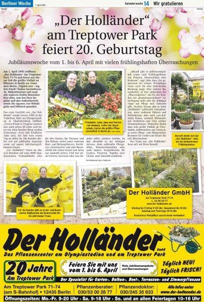 "[LOKAL BERLIN] Gratis Gießkannen bei ""Der Holländer"""