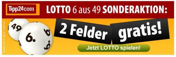 2 x Lottofelder Gratis @ Tipp24