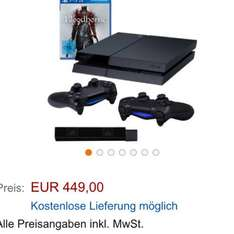 Playsation 4 + Bloodborne + 2. Controller + Kamera 449€