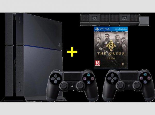 Sony PlayStation 4 500 GB + 2. Dual-Shock-Kontroller + Kamera + The Order @MediaMarkt.at
