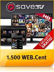 [WebCent] 15 Euro BestChoice-Gutschein für kostenloses Testabo von Save.TV