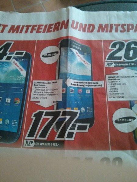 [Lokal] Media Markt Ludwigshafen - Samsung Galaxy S4 mini für 177€ - PVG 189€