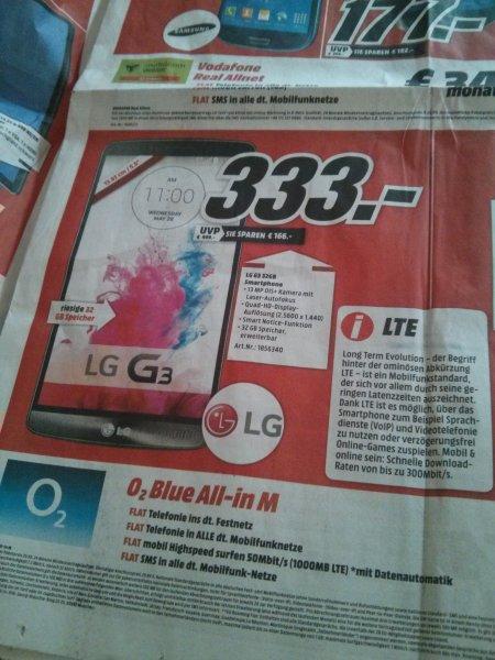 [Lokal]  Media Markt Ludwigshafen - LG G3 32GB für 333€ - PVG 399