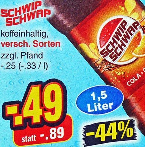 SCHWIP SCHWAP 1,5 l für 49 Cent bei [ Netto MD ]