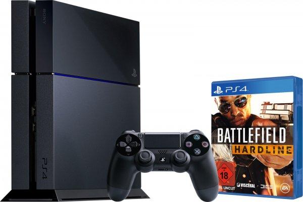 Sony Playstation 4/PS4 (schwarz) + Battlefield Hardline (Bundle) WOW
