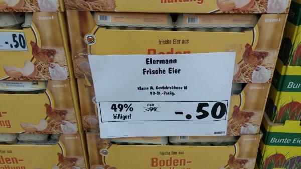 (lokal Kaufland Berlin-Weißensee) Eier aus Bodenhaltung Gew.Kl. M