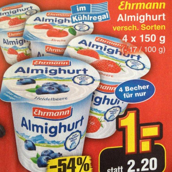 [Netto Ohne Hund] Almighurt 4x150g für 1€ am Samstag, den 11.04.15