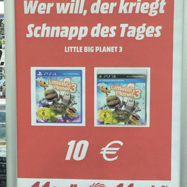[Media Markt Aachen] Little Big Planet 3 für PS4 oder PS3 für 10€