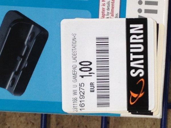 (lokal) Saturn Hamm Nintendo Wii U Aufladestation + Ständer 1Euro