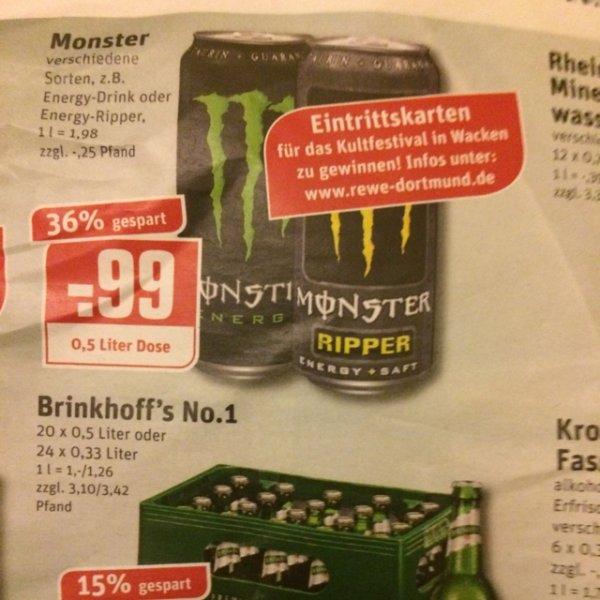 [BUNDESWEIT] MONSTER ENERGY 0,99€ bei Rewe