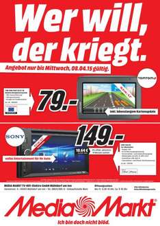 [lokal Mühldorf am Inn] Sony XAV-65 Car Moniceiver für 149€ / TOMTOM Start 20 M Central Europe mit FREE Lifetime Maps für 79€