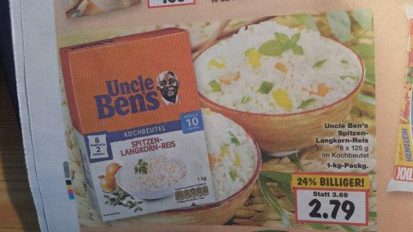 [Kaufland] 15KW Uncle Bens 1Kg Langkornreis 1,79€