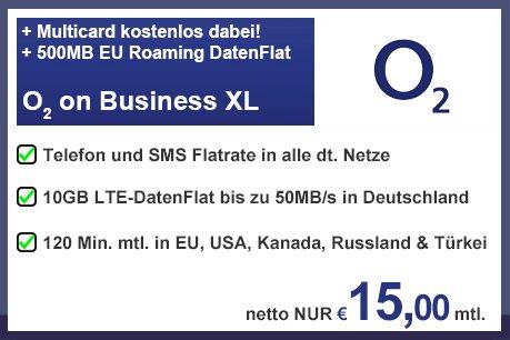 [Erinnerung, Gewerbekunden] o2 Business , 10GB Daten Allnet Flat EU und teilw. ausserhalb (zB Kanda oder USA)