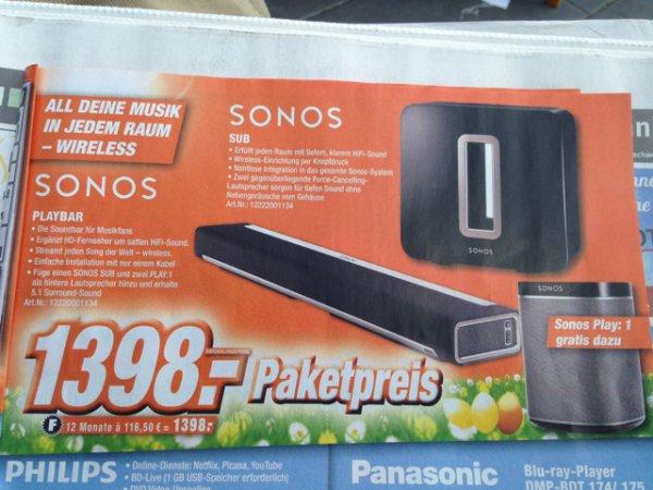 (Lokal) Sonos Playbar & Sub inkl. Play:1