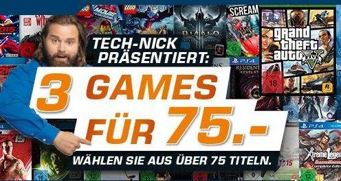 [Saturn Online] 3 Spiele für 75,-€...Mit zb...GTA 5(XBox One),Destiny (PS4),Evil Within(PS4) etc.....
