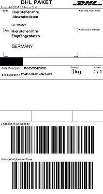 DHL Paketmarken / DEUTLICH GÜNSTIGER, z.B. 1kg Paket 4,79 Euro ansatt 5,99 Euro