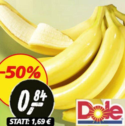 Dole Bananen je 1 kg nur 84 Cent ! bei [ REAL ]
