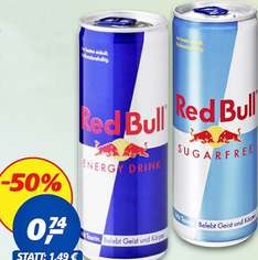 Red Bull Energy Drink, Zero o. Edition nur 74 Cent ! bei [ REAL ]