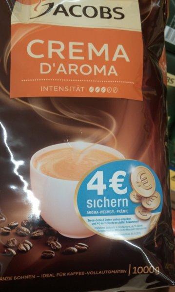 LIDL: Jacobs Crema D'Aroma Kaffeebohnen, 1000g für effektiv 5,99€