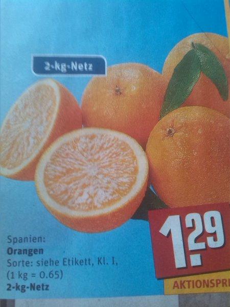[REWE Bundesweit] Orangen im 2-kg-Netz für 1,29€ (0,645€/kg)