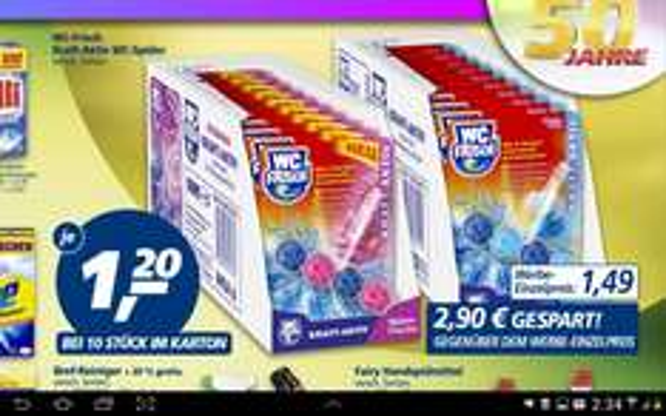 [Real] WC FRISCH Kraft Aktiv Produkte versch. Sorten für nur 0,85 Euro (13.-18.04.)