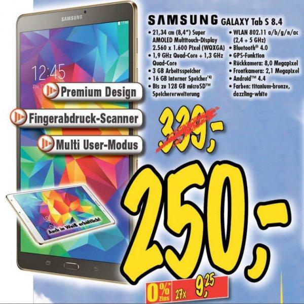 [lokal Technoland Deizisau] Samsung Galaxy Tab S 8.4 in titanium bronze oder dazzling weiß