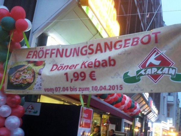 [lokal Berlin] Döner 1, 99 € bei Kaplan am Leopoldplatz